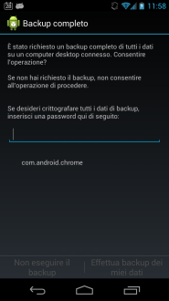 Android - Backup in corso